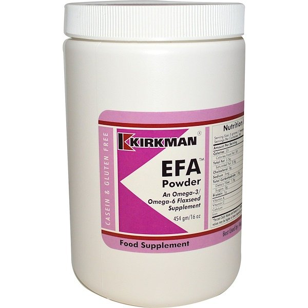 Kirkman Labs, EFA Powder, 16 oz (454 g) (Discontinued Item)