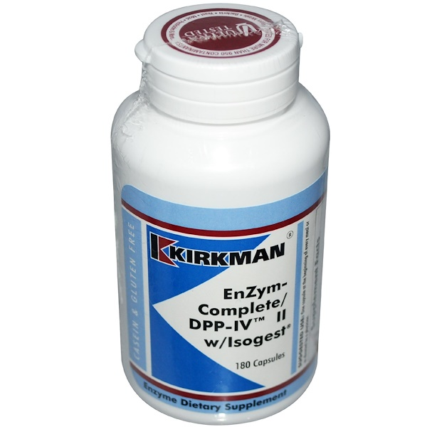 Kirkman Labs, Enzym-Complete/DPP-IV II, with Isogest, 180 Capsules (Discontinued Item)
