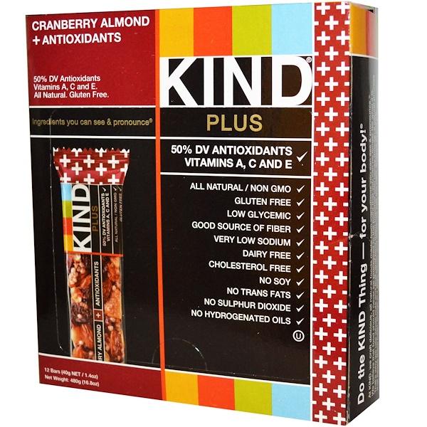 KIND Bars, KIND, Barras de Fruta y Nueces, Delicia de Fruta y Nueces, 12 Barras, 1.4 oz (40 g) c/u