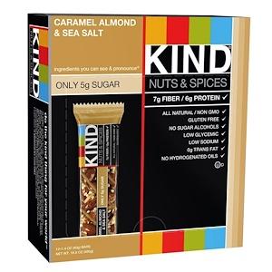 KIND Bars, Nuts & Spices, Caramel Almond & Sea Salt, 12 Bars