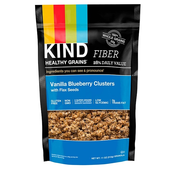 Healthy Grains, Vanilla Blueberry Clusters with Flax Seeds, 11 oz (312 g)