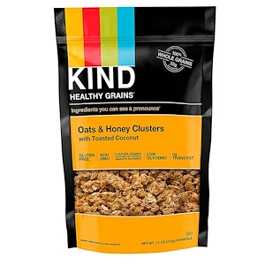 Кинд Барс, Healthy Grains, Oats & Honey Clusters with Toasted Coconut, 11 oz (312 g) отзывы покупателей
