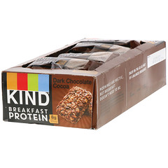 KIND Bars, 早餐蛋白,黑巧克力可可,8 包 2 塊,每塊 1.76 盎司(50 克)