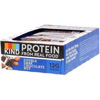 Купить KIND Bars Протеиновые батончики, Двойной темный шоколад и орех, 12 баточников, 1, 76 унц. (50 г) каждый