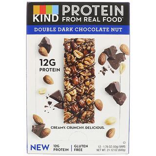 KIND Bars, Protein Bars, Double Dark Chocolate Nut, 12 Bars, 1.76 oz (50 g) Each