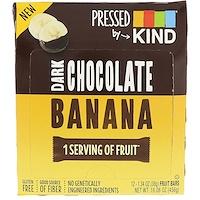 Pressed by KIND, Темный шоколад и банан, 12 фруктовых батончиков, 1,35 унц. (38 г) каждый - фото