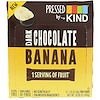 KIND Bars, Pressed by KIND, Banana e Chocolate Amargo, 12 Barra de Frutas, 1,35 oz (38 g) Cada