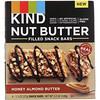 KIND Bars, अखरोट मक्खन से भरा हुआ स्नैक बार्स, हनी बादाम बटर, 4 बार्स, 1.3 ऑउंस (37 ग्राम) प्रत्येक