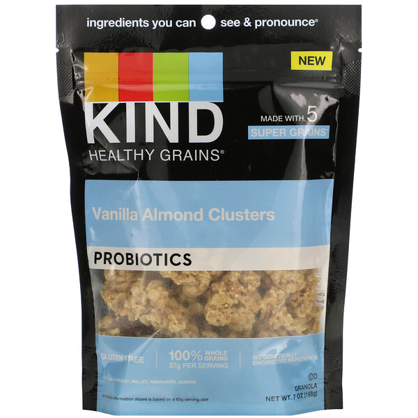 KIND Bars, Healthy Grains, Probiotic, Vanilla Almond Clusters,  7 oz (198 g)