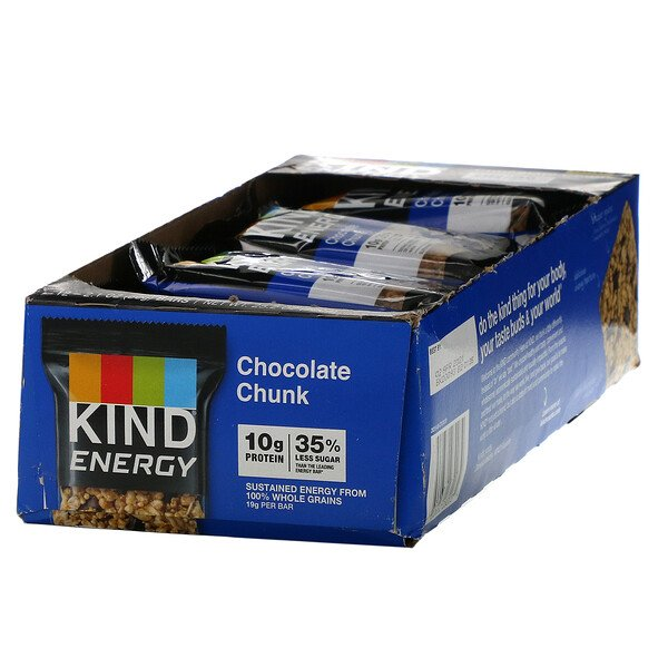 KIND Bars, Energy, Chocolate Chunk, 12 Bars, 2.1 oz (60 g) Each