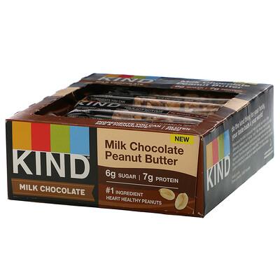 Купить KIND Bars Milk Chocolate, Peanut Butter, 12 Bars, 1.4 oz (40 g) Each
