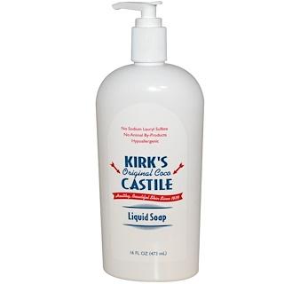 Kirk's, Castile Liquid Soap, Original Coco, 16 fl oz (473 ml)