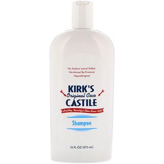 Kirk's, Оригинальный шампунь Коко Кастилии 16 жидких унции (473 мл)