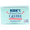 Kirk's, Original Coco Castile Bar Soap, Fragrance Free, 3 Bars, 4.0 oz (113 g) Each