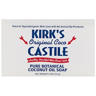 Kirk's, Original Coco Castile Soap Bar, 4 oz (113 g)