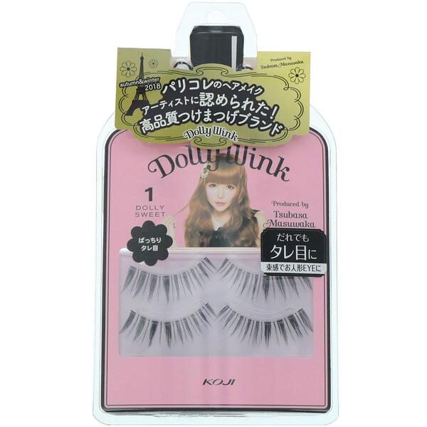 Koji, Dolly Wink, False Eyelashes, #1 Dolly Sweet, 2 Pairs