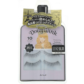 Koji, Dolly Wink, Faux-cils, #10 Sweet Cat, 2paires