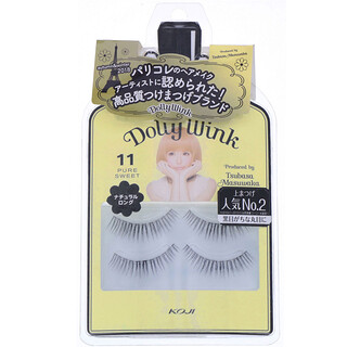 Koji, Dolly Wink, Faux-cils, #11 Pure Sweet, 2paires