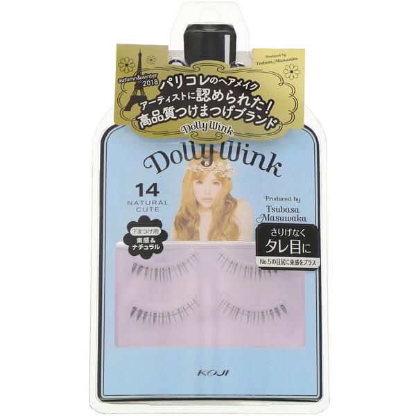 Dolly Wink, накладные ресницами, #14Натуральный симпатичный, 2пары.
