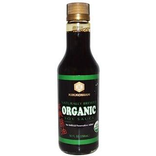 Kikkoman, オーガニック醤油, 10 液量オンス (296 ml)
