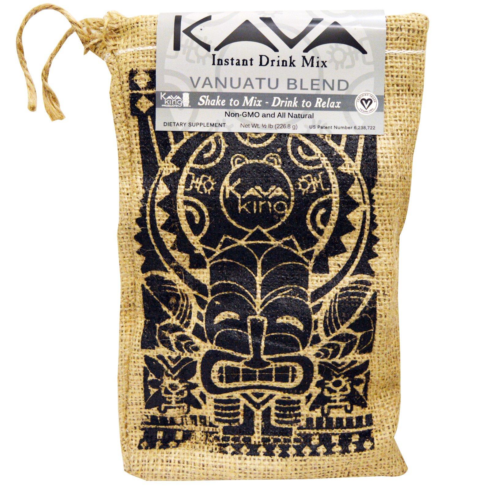 Kava King Products Inc, Растворимая смесь для напитков, смесь вануату, 0,5 фунта (226,8 г)