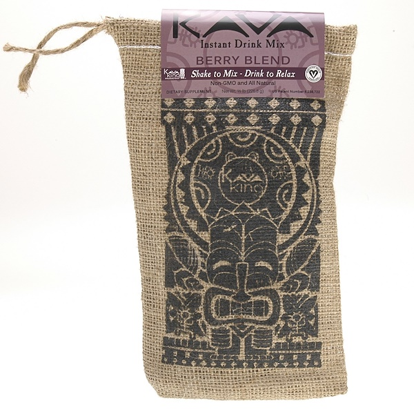 Kava King Products Inc, 即溶飲料,漿果混合裝,12磅(226、8克)