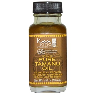 Kava King Products Inc, Organic Pure Tamanu Oil, 2 fl oz (59 ml)
