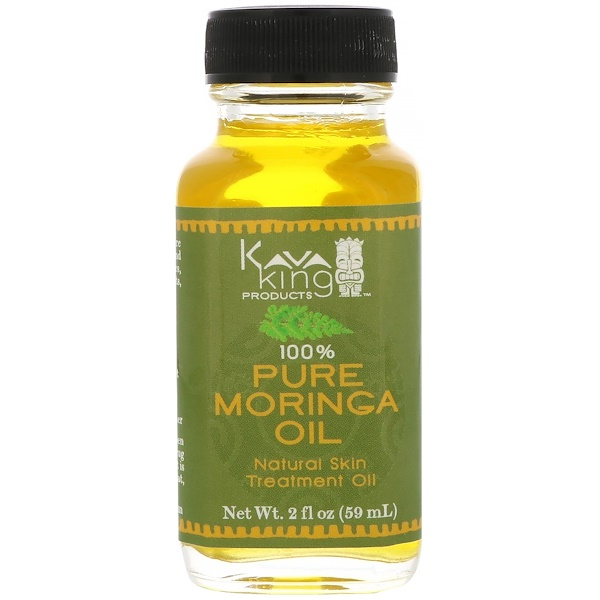 Kava King Products Inc, 100% Pure Moringa Oil, 2 fl oz (59 ml)