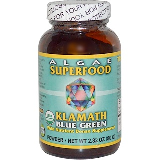 Klamath, Power Organics, Algae Superfood Klamath Blue Green, 2.8 oz (80 g)