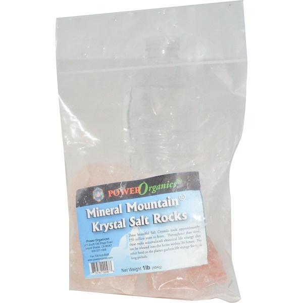 Klamath, Power Organics, Mineral Mountain, Krystal Salt Rocks, 1 lb (454 g) (Discontinued Item)