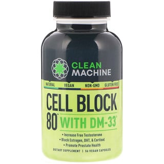 CLEAN MACHINE, Cell Block 80 With DM-33, 56 Vegan Capsules