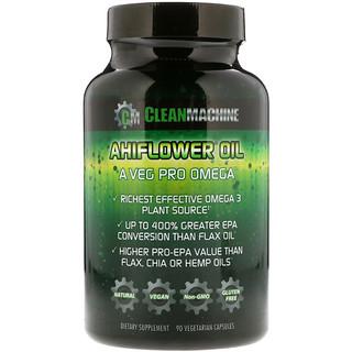 CLEAN MACHINE, Ahiflower Oil, 90 Vegetarian Capsules