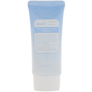 Dear, Klairs, Mid-day Blue Sun Lotion, SPF 40/PA++, 1.7 oz (50 ml)
