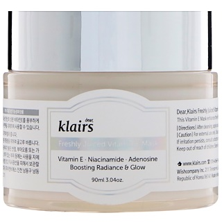 Dear, Klairs, Mascarilla de vitamina E fresca, 3.4 oz (90 ml)