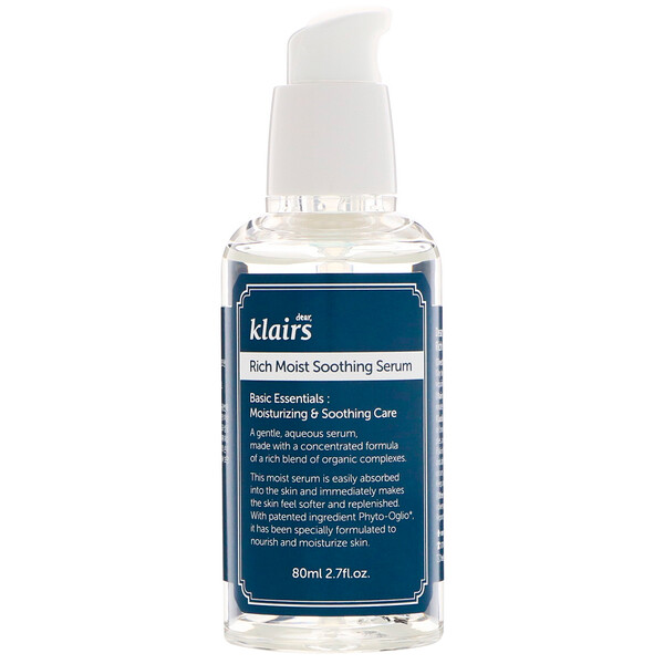 Dear, Klairs, Serum para hidratar y aliviar, 2.7 fl oz (80 ml)