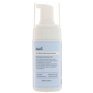 Dear, Klairs, Rich Moist Foaming Cleanser, 3.4 fl oz (100 ml)