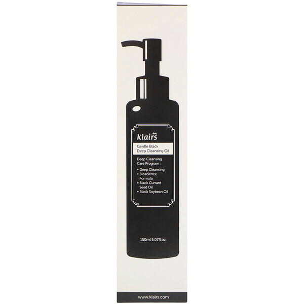 Dear, Klairs, Gentle Black Deep Cleansing Oil, 5.07 fl oz (150 ml)