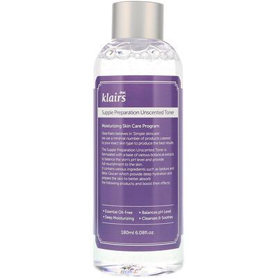 Купить Dear, Klairs Supple Preparation, тоник без запаха, 180мл (6, 08жидк.унции)
