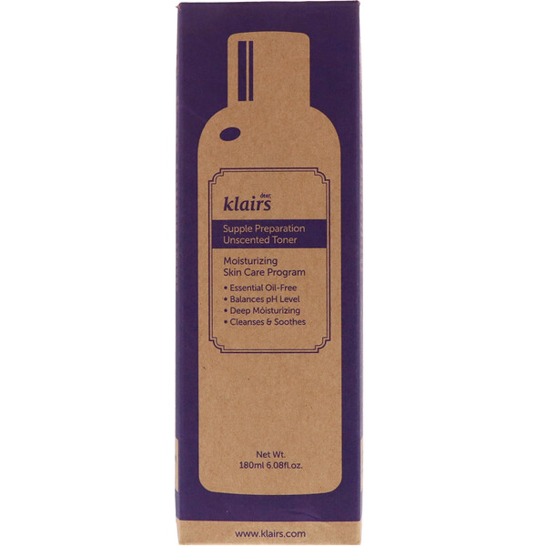 Dear, Klairs, Supple Preparation Unscented Toner, 6.08 fl oz (180 ml)