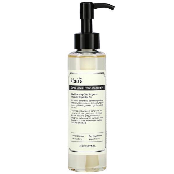 Gentle Black Fresh Cleansing Oil, 5.07 fl oz (150 ml)