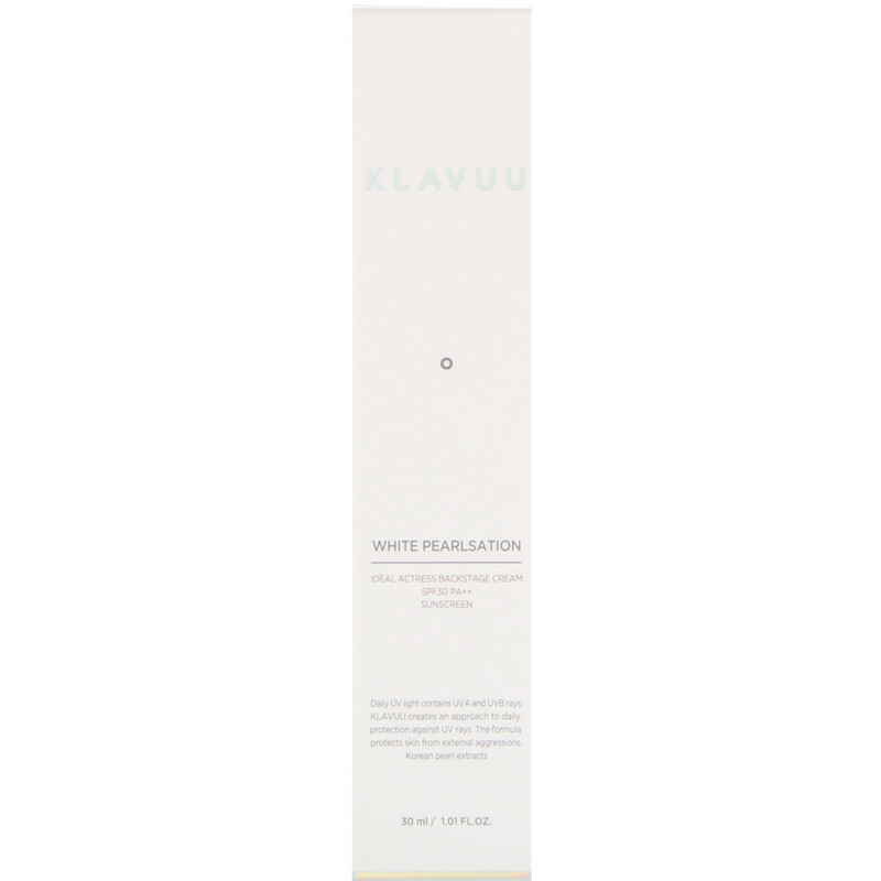 KLAVUU, White Pearlsation, Ideal Actress Backstage Cream SPF30 PA++ Sunscreen, 1.01 fl oz (30 ml)