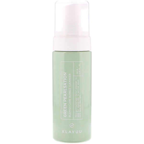 KLAVUU, Green Pearlsation, Blemish Care Bubble Cleanser, 5.07 fl oz (150 ml) (Discontinued Item)