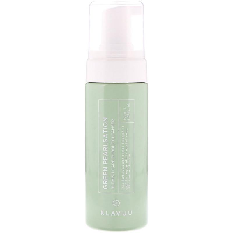 KLAVUU, Green Pearlsation, Blemish Care Bubble Cleanser, 5.07 fl oz (150 ml)