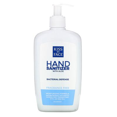 Kiss My Face Hand Sanitizer with Aloe, Fragrance Free, 17 fl oz (502 ml)