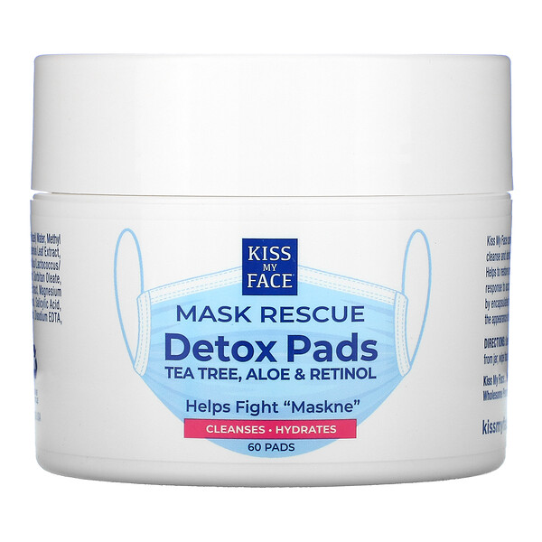 Kiss My Face, Mask Rescue Detox Pads, 60 Pads