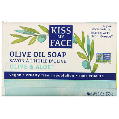 Купить Kiss My Face Olive Oil Soap, Olive & Aloe, 8 oz (230 g)
