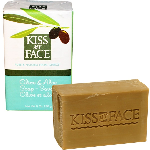 Kiss My Face, Olive & Aloe Soap Bar, 8 oz (230 g) (Discontinued Item)