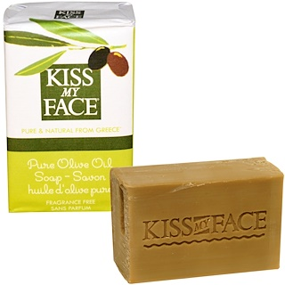 Kiss My Face, Pure Olive Oil Soap Bar, Fragrance Free, 4 oz (115 g)