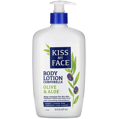 Kiss My Face Body Lotion, Olive & Aloe, 16 fl oz (473 ml)