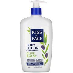Kiss My Face, 身體乳,橄欖和蘆薈,16 液量盎司(473 毫升)